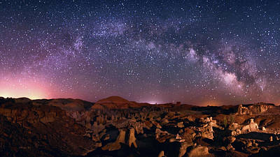 Bisti Badlands Night Sky - 2 Art Print