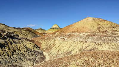 Photograph - Bisti Badlands - Rounding One More Hill by Debra Martz