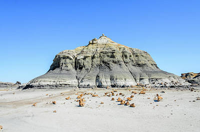 Photograph - Bisti Badlands - Space Rocks by Debra Martz