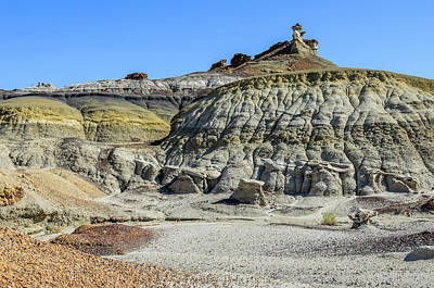 Photograph - Bisti Badlands - Spotted A Marker by Debra Martz