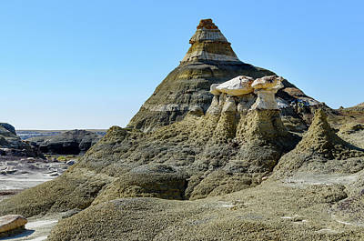 Photograph - Bisti Badlands - Temple And Protector by Debra Martz
