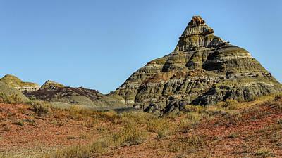 Photograph - Bisti Badlands - The Ziggurat-like Hill by Debra Martz