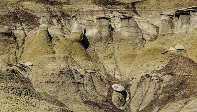 Photograph - Bisti Badlands - Toadstool Formations by Debra Martz