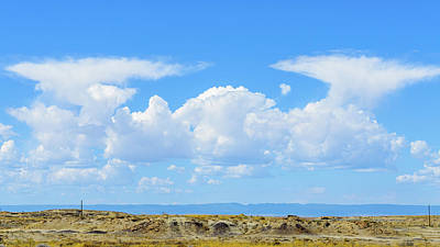 Photograph - Bisti Badlands - Twin Clouds by Debra Martz