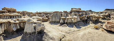 Photograph - Bisti Badlands Wilderness Panorama by Debra Martz