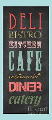 Digital Art - Bistro Cafe Sign by B Gazarek