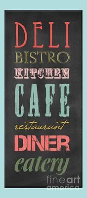 Digital Art - Bistro Cafe Sign by B Gazarek