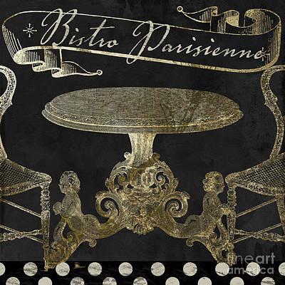 Bistro Parisienne Gold Art Print