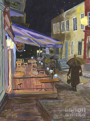 Painting - Bistro Sous Le Fort by Francois Lamothe