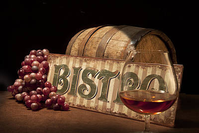 Cask Photograph - Bistro Still Life II by Tom Mc Nemar