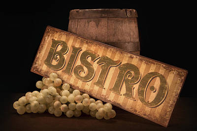 Wine Grapes Photograph - Bistro Still Life IIi by Tom Mc Nemar