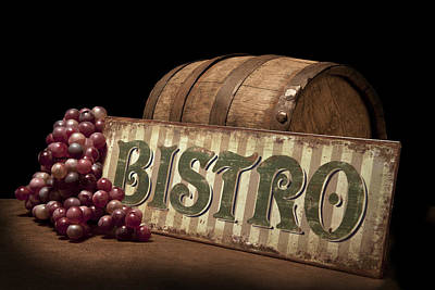 Bistro Still Life Iv Print by Tom Mc Nemar