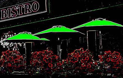 Patio Umbrellas Digital Art - Bistro by Will Borden