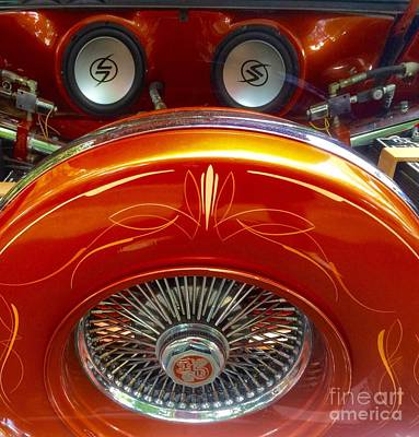 Photograph - Bit Of Lincoln Town Car Orange  by Susan Garren