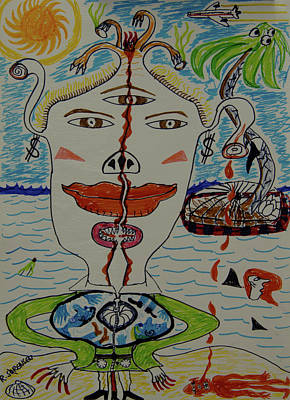 Painting - Bitch Queen Of The Island by Robert SORENSEN