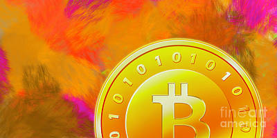 Photograph - Bitcoin On Fire by Rich Collins