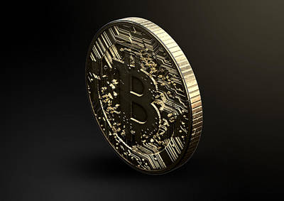 Coins Digital Art - Bitcoin Physical by Allan Swart