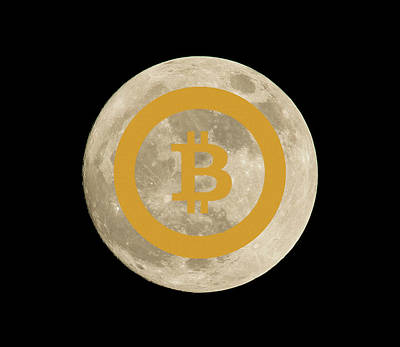 Photograph - Bitcoin To The Moon by Britten Adams