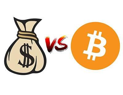 Photograph - Bitcoin Vs Fiat by Britten Adams