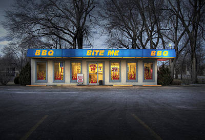 Wichita Ks Photograph - Bite Me Bbq by Fred Lassmann