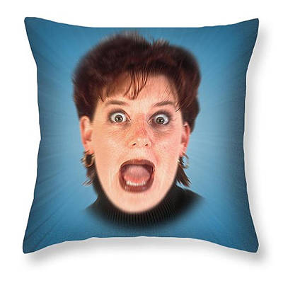 Digital Art - Bite Me Throw Pillow by Clif Jackson