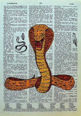 Cobra Mixed Media - Bite My Cockle by Robin Cook