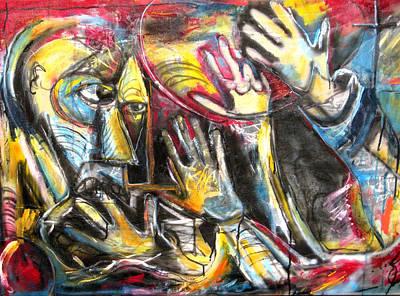 Bite The Hand That Feeds  Art Print by Jon Baldwin  Art