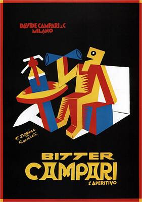Mixed Media - Bitter Campari - Aperitivo - Vintage Beer Advertising Poster by Studio Grafiikka