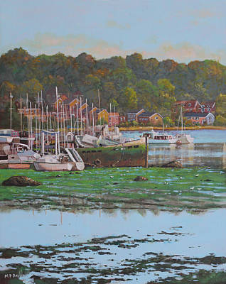 Painting - Bitterne Boats Southampton by Martin Davey