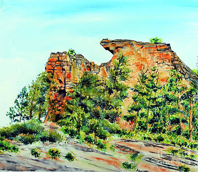Bitterroot Cliffs Art Print by Tracy Rose Moyers