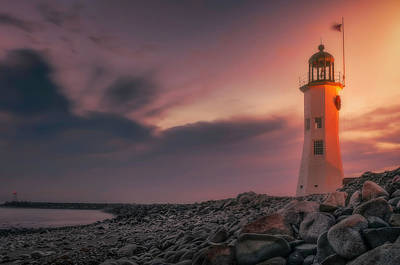 Bittersweet Scituate Light Art Print