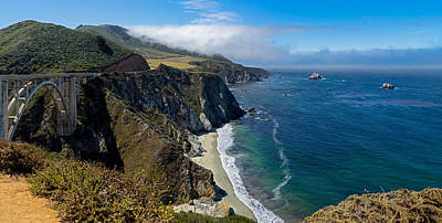 Photograph - Bixby Bridge And Hurricane Point by Derek Dean