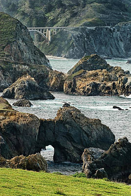 Photograph - Bixby Bridge At Big Sur California by Renee Hong