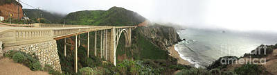 Photograph - Bixby Creek Bridge, Big Sur, Calif. 3/16/2017 by California Views Archives Mr Pat Hathaway Archives