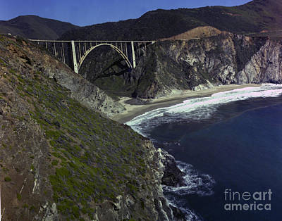 Photograph - Bixby Creek Bridge Big Sur Photo By Pat Hathaway 1974 by California Views Archives Mr Pat Hathaway Archives