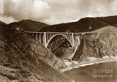 Photograph - Bixby Creek Bridge Bridge Big Sur Photo  by California Views Mr Pat Hathaway Archives