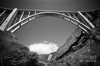 Photograph - Bixby Creek Bridge From Bixby Beach 1987 by California Views Mr Pat Hathaway Archives