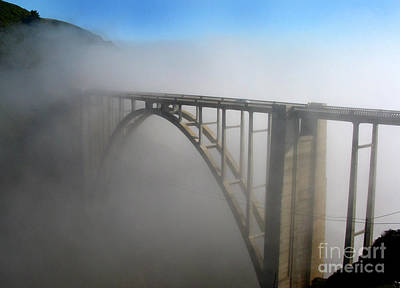 Photograph - Bixby Creek Bridge In The Fog Big Sur Photo By Pat Hathaway by California Views Mr Pat Hathaway Archives