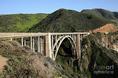 Photograph - Bixby Creek Bridge Big Sur Looking South 2007 by California Views Mr Pat Hathaway Archives