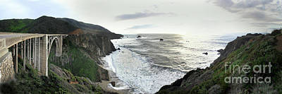 Photograph - Bixby Creek Bridge On The Big Sur Coast Of California  Jan. 2010 by California Views Archives Mr Pat Hathaway Archives