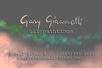 Painting - Biz Card by Gary Giacomelli