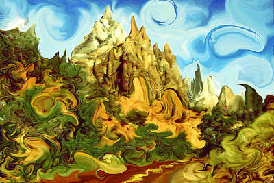Painting - Bizarre Zion Landscape - Abstract Modern Art by Peter Potter