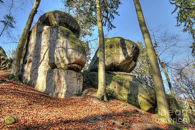Photograph - Bizarre Boulders In The Woods In The Bohemian Paradise by Michal Boubin