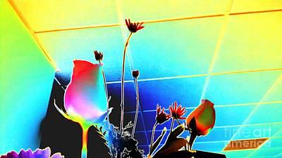 Digital Art - Bizarre Rising by Rachel Hannah