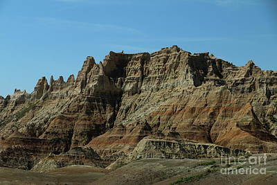 Photograph - Bizarre Rockformation In The Badlands by Christiane Schulze Art And Photography