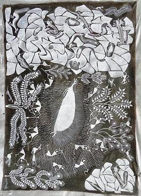 Indian Tribal Art Painting - Bjm 48 by Balu Jivya Mashe