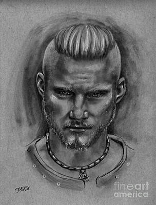Drawing - Bjorn Ironside by Samantha Strong