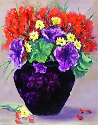Painting - Black Amethyst Satin Vase by Vicki VanDeBerghe