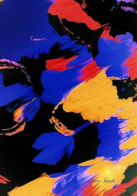 Painting - Black And Blue by Anne Sands