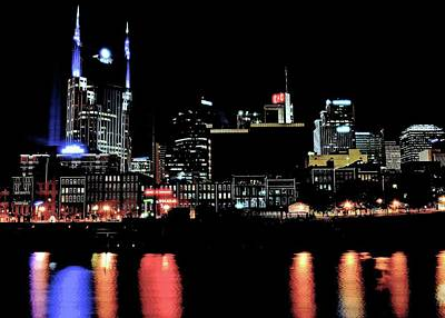 Photograph - Black And Color Nashville by Frozen in Time Fine Art Photography